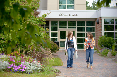 students outside Cole Hall