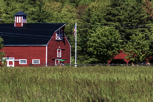 red barn and stable