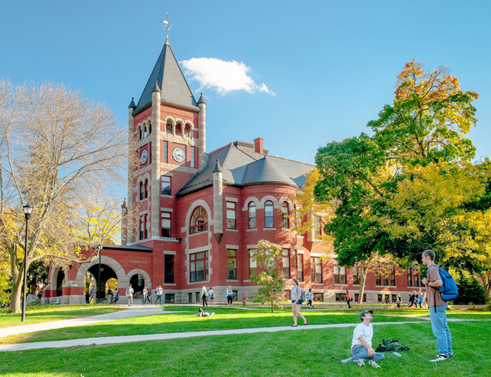 A view of T-Hall on the UNH campus.