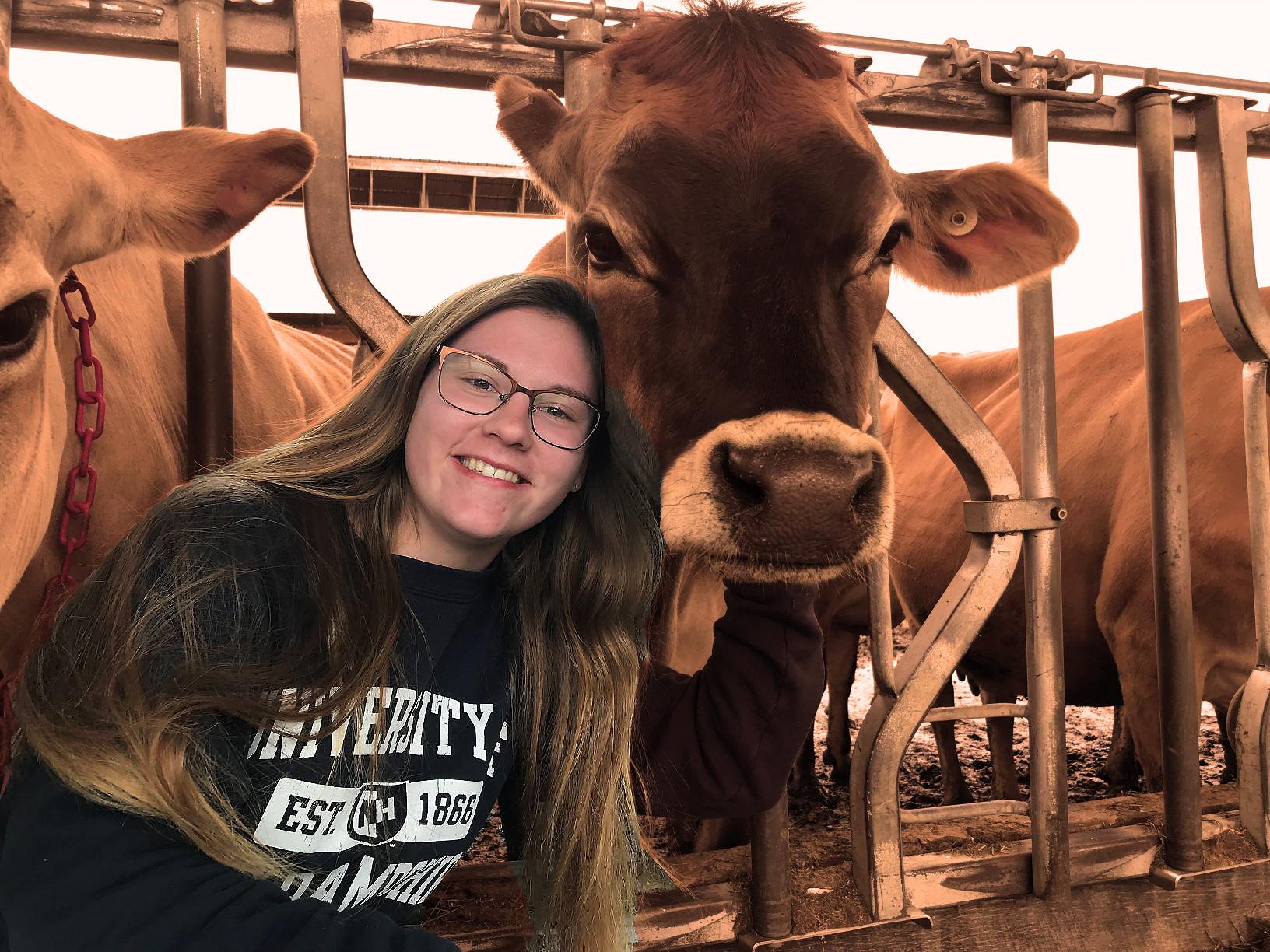 UNH animal science major Jessica Fury '19