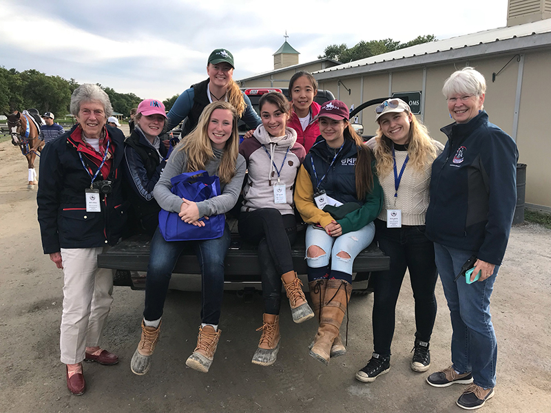 UNH equestrian team recently volunteered at the New England Dressage Association (NEDA) Fall Festival of Dressage