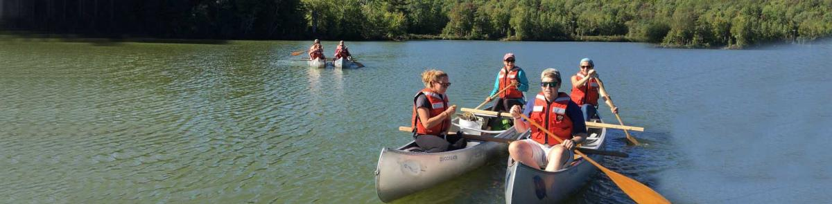 MEFB Students out on Saywer Pond