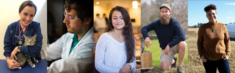 Profile shots of 5 COLSA students