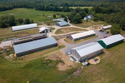 Organic Dairy Aerial Photo