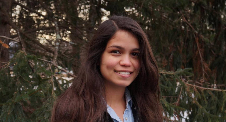 UNH wildlife and conservation biology major Angelica Beltrán Franco