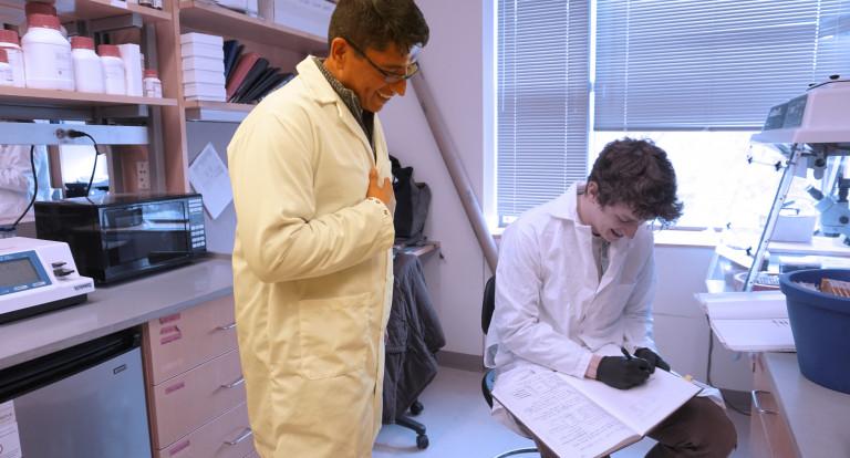 UNH Assistant Professor Arturo Andrade