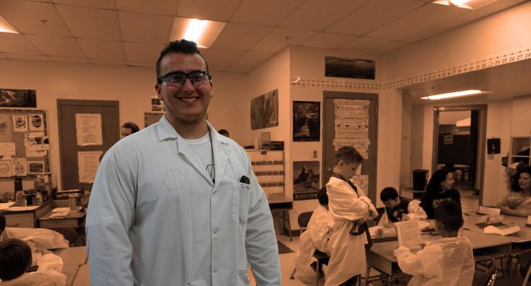 UNH biochemistry major Graeme Lambert