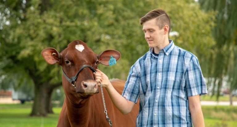 UNH applied animal science major Jake Fisher '21
