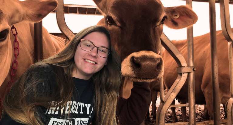 UNH animal science major Jessica Fury '19