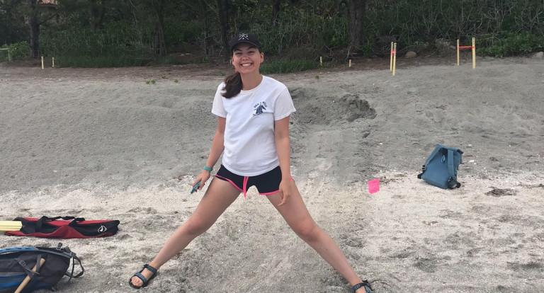 Mary Kate Munley '21 during her internship in Sarasota, Florida