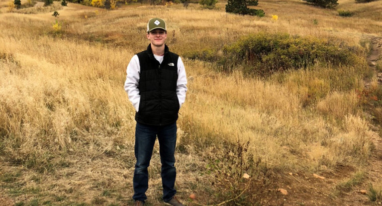 UNH Applied Animal Science major Nathan Adams '20