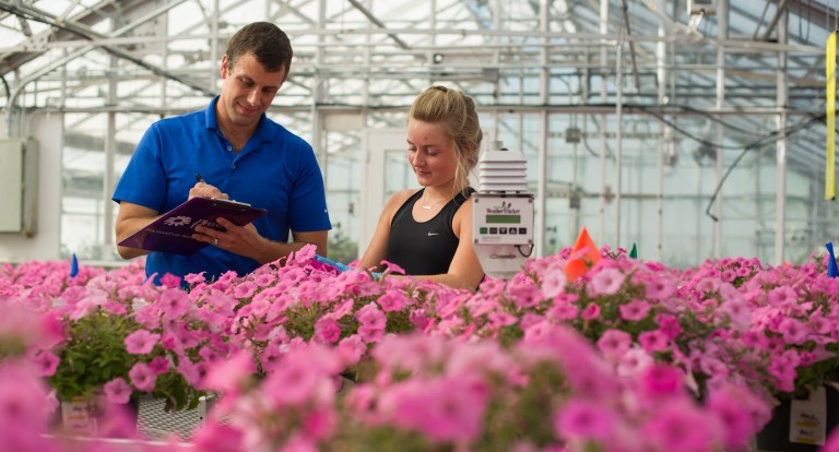 Research at the UNH Macfarlane Research Greenhouses