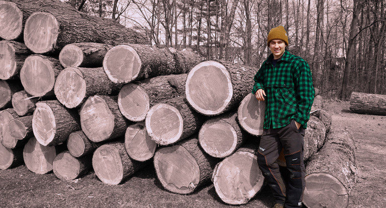 UNH Forest Technology student Zach Simino '19
