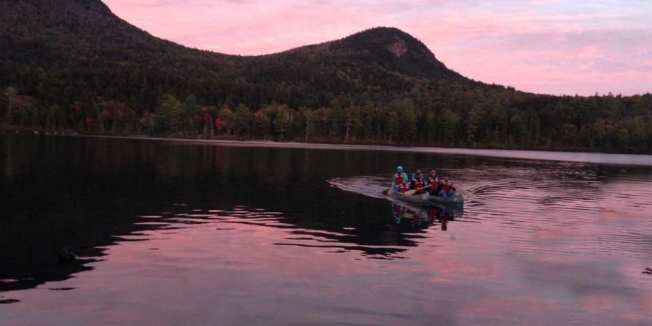 Zoology class from Biological Sciences on lake