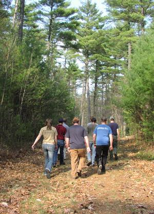 UNH FORT Students In Woods